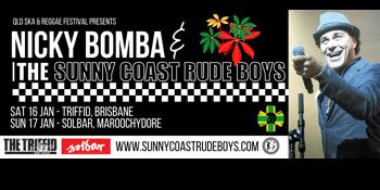 Nicky Bomba with the Sunny Coast Rude Boys