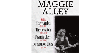 **FREE ENTRY** Maggie Alley - Wednesdays in September at The Tote