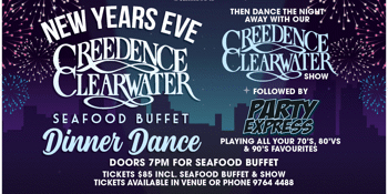 New Years Eve Spectacular Seafood Buffet Dinner Dance.