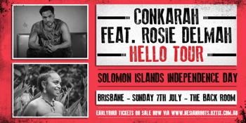 Conkarah & Rosie Delmah 'Hello Tour'