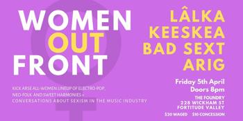 Women Out Front Gig: LÂLKA, Keeskea, Bad Sext, ARIG