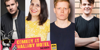 COMEDY AT THE WALLABY